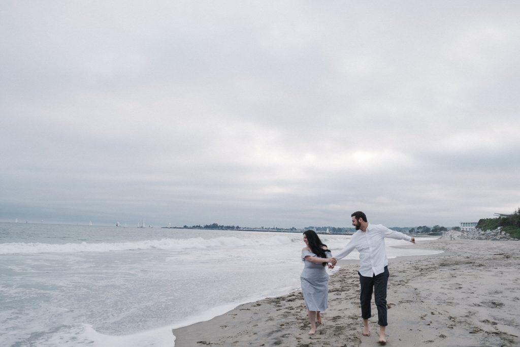 Nick and Natasha at a beach in Santa Cruz